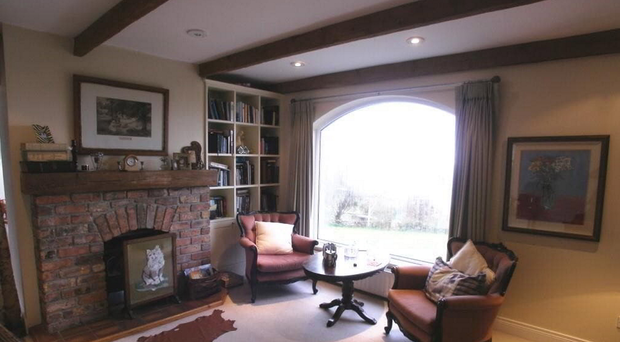 A living room in the house where Colin Howell was arrested by poilce