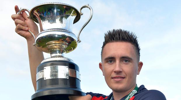 In search of a repeat: Waringstown skipper Lee Nelson wants another helping of Irish Cup joy
