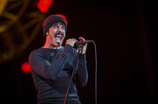 Red Hot Chili Peppers perform onstage at Tennent's Vital at the Boucher Road playing fields in Belfast, Northern Ireland on August 25th 2016 ( Photo by Liam McBurney )