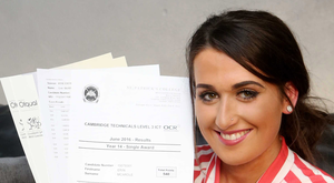 Erin McArdle has secured a place at Stranmillis University College