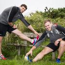 Pictured Richard Millar (L) and Jamie Wilson at Scrabo Tower Newtownards. Picture: Liam McBurney/RAZORPIX