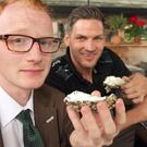 Christopher Woodhouse Oyster eating. Hillsborough Oyster festival launch. Belfast Giants Adam Keefe at the Plough Inn. Picture Colm O'Reilly Sunday Life 09-08-2016