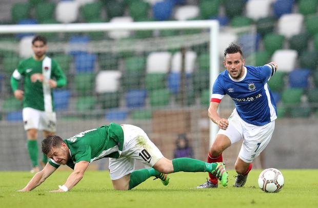 Full of desire: Andy Waterworth says Linfield players cannot be accused of not caring