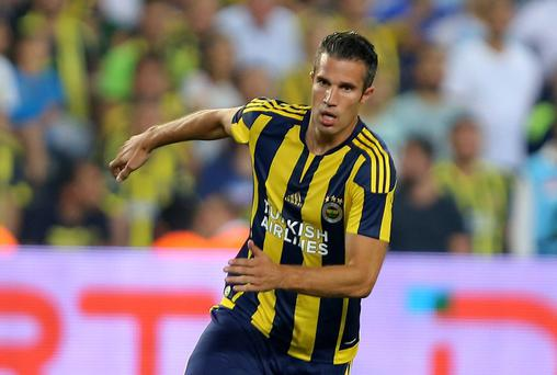 Familiar face: Robin van Persie will travel to United with Fenerbahce