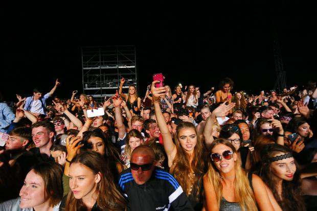 Avicii performs onstage at Tennent's Vital at the Boucher Road playing fields in Belfast, Northern Ireland on August 26th 2016 ( Photo by Kevin Scott / Belfast Telegraph )