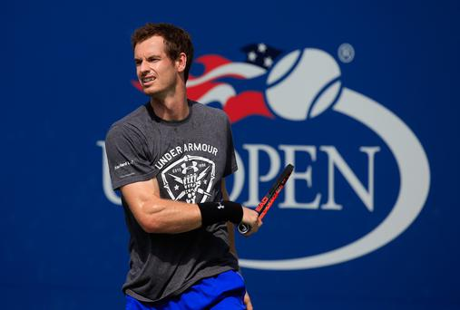 On fire: Andy Murray is relishing his US Open assault