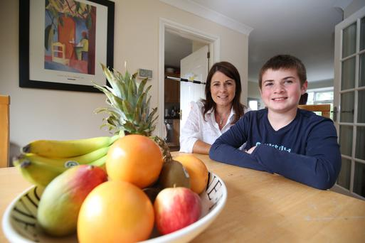 Fruit focus: Jane Smyth and son Mackenzie