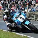 Leading the way: Michael Dunlop out in front in the Superbike Classic TT race