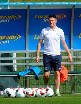 Gearing up: Robbie Keane prepares for his final Republic appearance