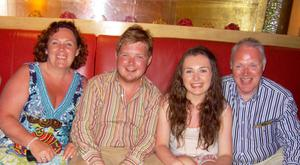 David Black with wife Yvonne, daughter Kyra and Son Kyle on holiday in Dubai 2012