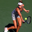 Mixed fortunes: Naomi Broady on her way to victory over Laura Robson
