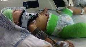 Toddler Isaiah is recovering from the crash, which took place on Sunday 21 August (GoFundMe)