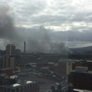Smoke billowing from west Belfast.