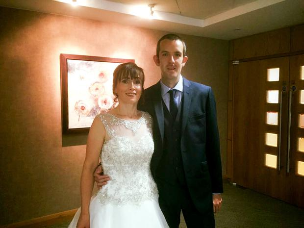 Jonathan Peden and wife Roisin on their wedding day last month