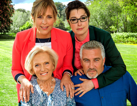 Mel Giedroyc, Sue Perkins, Mary Berry and Paul Hollywood from The Great British Bake Off. PA