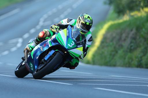 Hot wheels: Manxman Andrew Dudgeon clinched a popular MGP Junior success ahead of Tom Weedon