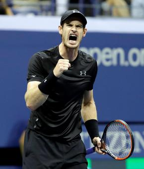 Roaring ahead: Andy Murray eased past Lukas Rosol 6-3 6-2 6-2 in just an hour and 52 minutes