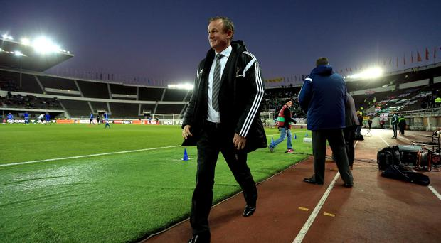 Best foot forward: Michael O'Neill can't wait to get World Cup qualifying under way