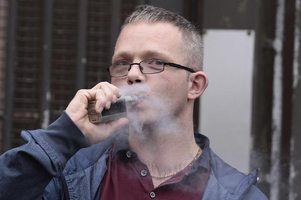 Aaron Galbraith is pictured leaving Ballymena Magistrate Court on Thursday where he was convicted of drink driving after a contest in which he claimed products in an e-cig put him over the limit. Photo by Mark Jamieson
