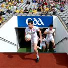 Much to offer: Sean Cavanagh (left) is being urged by Matthew Donnelly (right) to keep playing