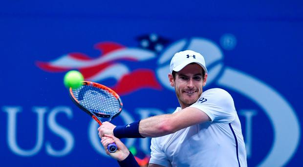 Powerhouse: Andy Murray on his way to victory over Marcel Granollers last night