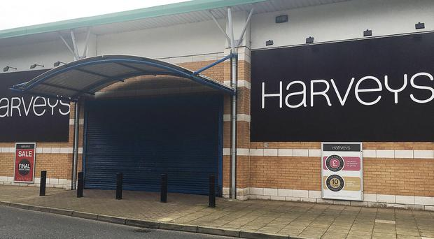 Harveys furniture store in Ballymena's Braidwater Retail Park