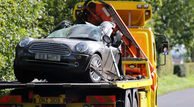 A man in his 20s has died following a crash in Crumlin, County Antrim. Pic Pacemaker