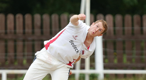 Wealth of talent: Greg Thompson bowling for Waringstown