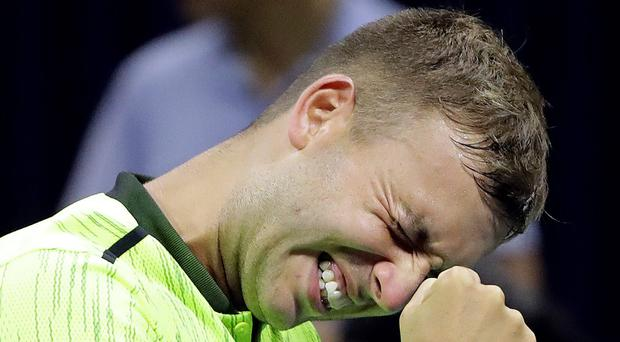 On the rise: Dan Evans is in the running for the 'Most Improved Player of the Year' award after claiming notable scalps