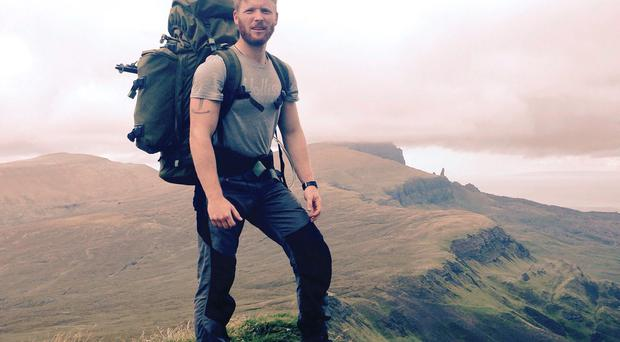 Undated handout photo of Louis Nethercott, a former Royal Marine suffering from post-traumatic stress disorder, who is aiming to inspire others by crossing the world's five largest islands in a mammoth year-long challenge. PA