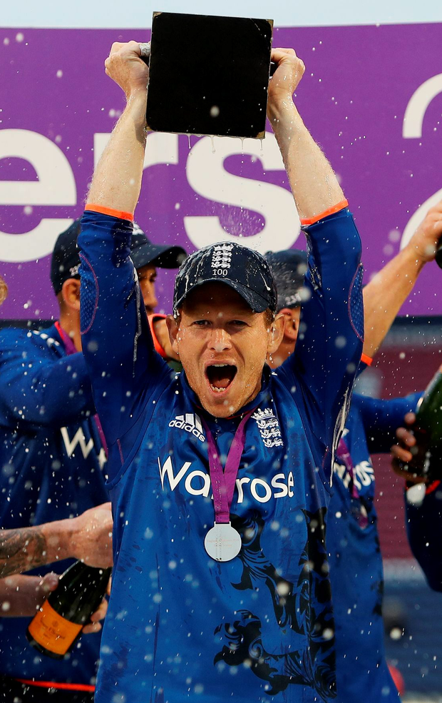 Outstanding: Eoin Morgan delighted with England's 4-1 series victory