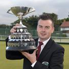 Top form: Barry Kane with the Irish singles trophy at Whitehead