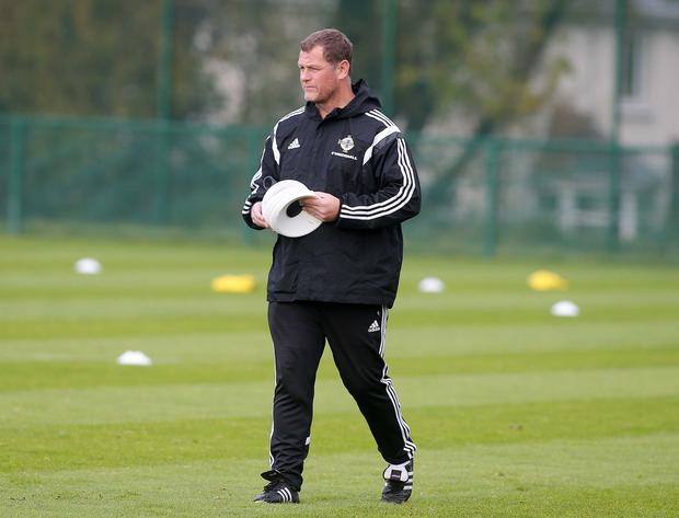 Pep talk: Jim Magilton says now is the time to impress Michael O'Neill
