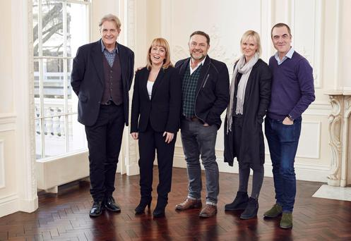 Robert Bathurst, Fay Ripley, John Thomson, Hermione Norris and James Nesbitt, as the hit comedy returns after a 13 year absence. PA