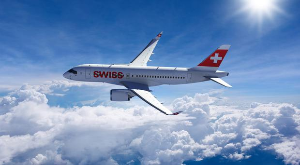 Swiss Air is the first airline to fly Bombardier's CSeries planes
