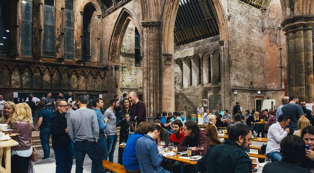 Hundreds of people visited the former Carlisle Memorial Church for this year's ABV Festival. Pic Woodworkers/Filly Campbell