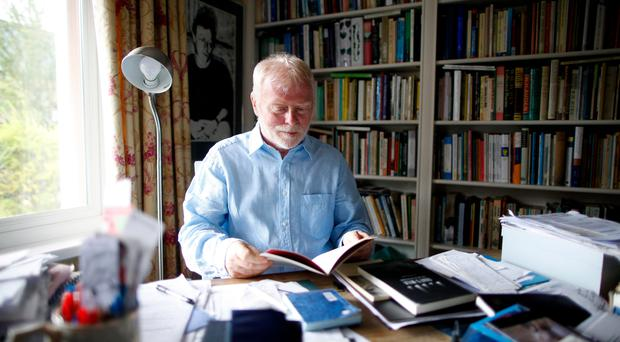 Frank Ormsby, at his home in Belfast yesterday, has used his experiences of Parkinson's as the raw material for his latest batch of poems