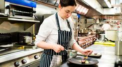 Plating up: Danni Barry head chef at Deanes Eipic.