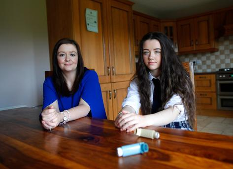 Severe symptoms: Carla Smyth with her daughter Elise