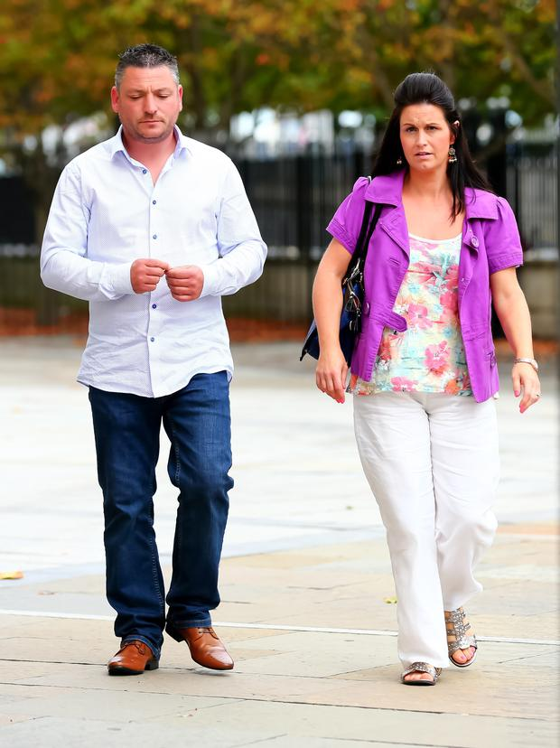Barry and Michelle Rocks leave court yesterday