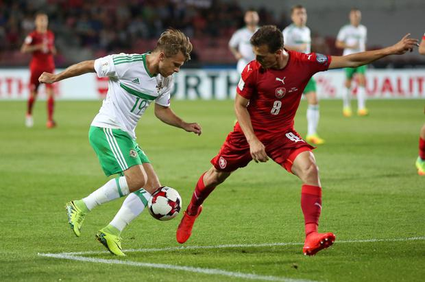 On the ball: Jamie Ward says Northern Ireland are fully focused