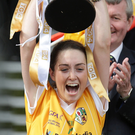 Glory day: Clare Timoney lifts Junior trophy in 2012