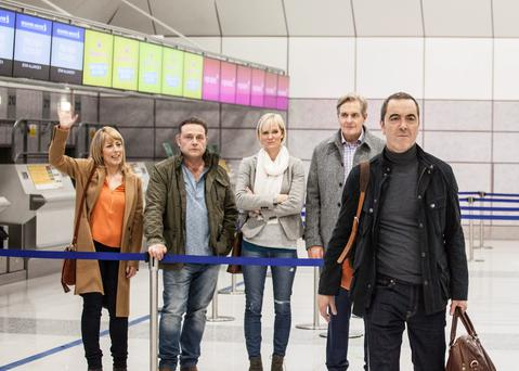 James Nesbitt with the rest of the Cold Feet cast in last night's episode