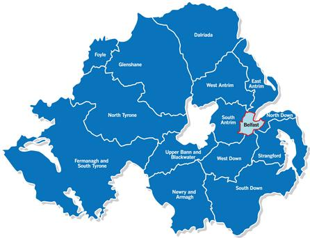 The proposed changes to the Northern Ireland boundaries.