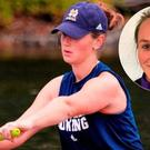 Ailish Sheehan while rowing for Notre Dame