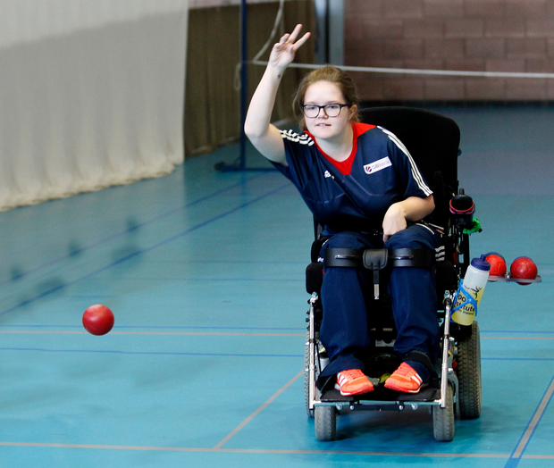 Rio carnival: Claire Taggart, in boccia action at Larne LeisureCentre ahead of the Rio Paralympics, has four pet tortoises, one of whom is named after Snow Patrol lead singer Gary Lightbody