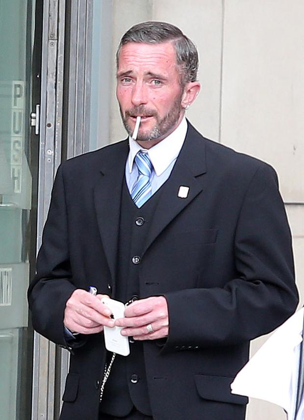 Darren McGowan-Gormley leaving Belfast Laganside Courts yesterday