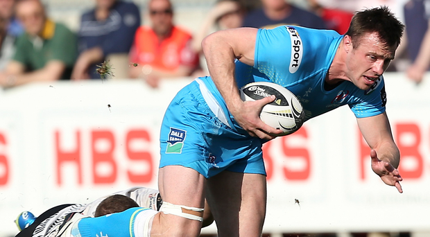 Frustrated: Tommy Bowe pictured in his only game for Ulster last season, away to Zebre in the PRO12 in Apri