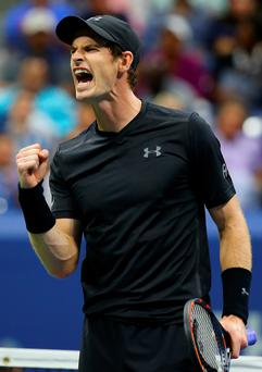 Roaring back: Andy Murray powered past Grigor Dimitrov in the US Open to get back on track after underwhelming in the previous round