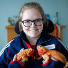 Happy family: Claire Taggart and her bearded dragons Luna and Bella